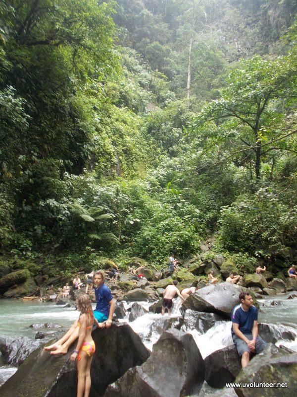 Arenal Hotsprings and waterfall, Costa Rica. https://www.uvolunteer.net/  volunteer opportunities, volunteer overseas, volunteer organization, volunteer opportunities abroad, volunteer work