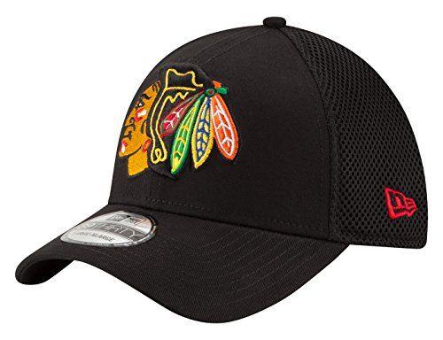 NHL Chicago Blackhawks Men's Mega Team Neo 39THIRTY Stretch Fit Cap, Large/X-Large, Black