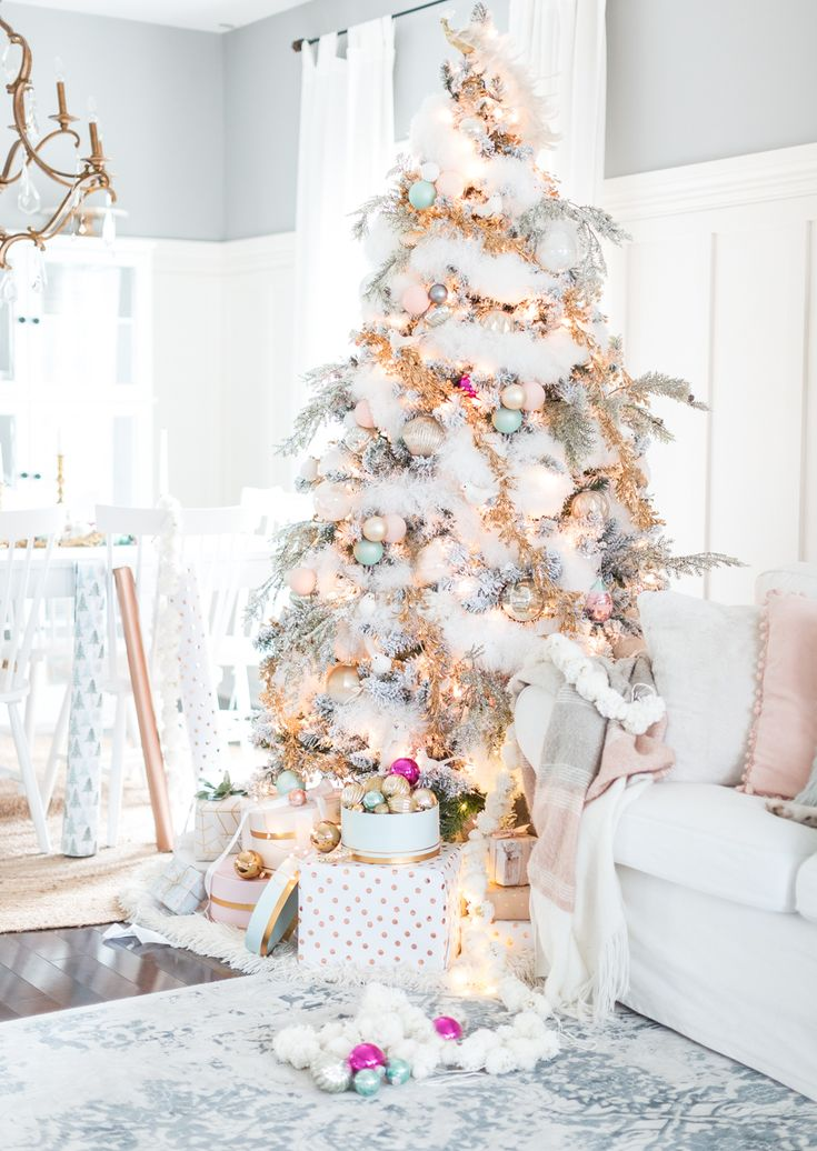 pastel christmas decor craftberrybush
