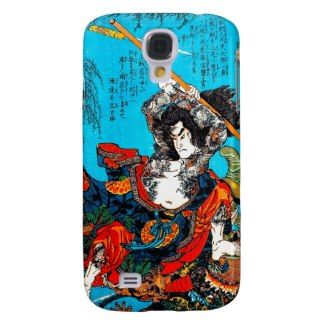 Legendary Suikoden Hero Warrior Jo Kuniyoshi art Samsung Galaxy S4 Cover #case #tattoo #suikoden #hero #warrior #jo #kuniyoshi #art #classic #japanese #oriental #Japan #samsung