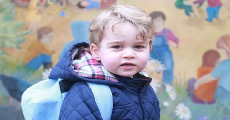 Prince George's first day of school.