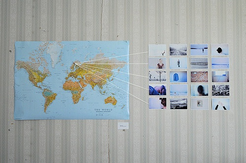 //: Travel Memories, Memories Wall, Features Wall, Wall Maps, Cute Ideas, World Maps, Cool Ideas, Travel Wall, Travel Photography
