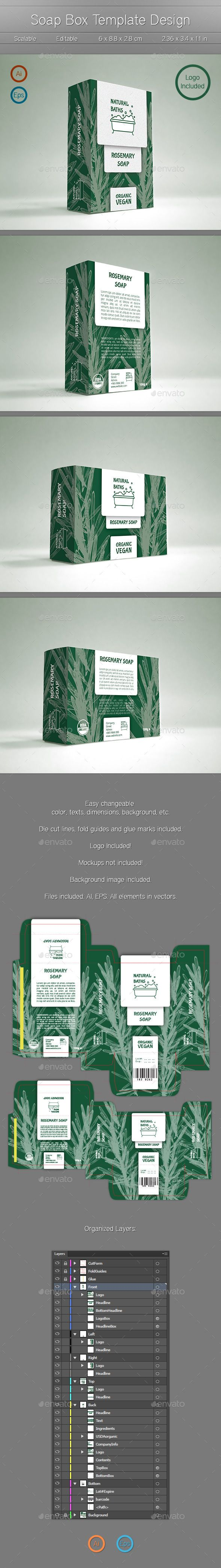 1000 images about premium packaging templates on pinterest for Soap box design template