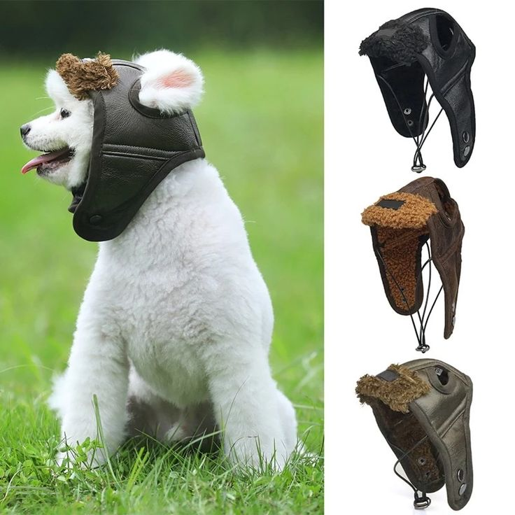 Aviator Navigator Bomber Pilot Aviation Hat – Fake Leather-based with Fake Shearling Lining – For Canine – 5 Sizes – three Colours Selections
