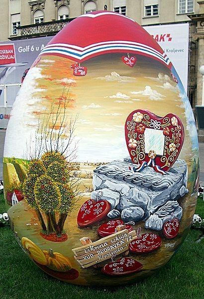 Easter egg or pisanica in Zagreb, Croatia.