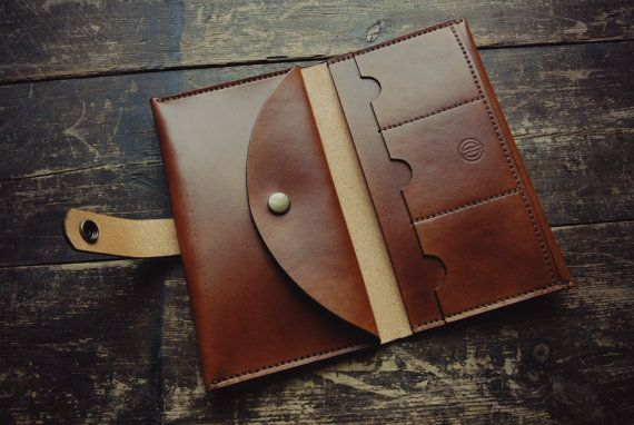 Handmade Leather small clutch/large wallet made by calebhandmade
