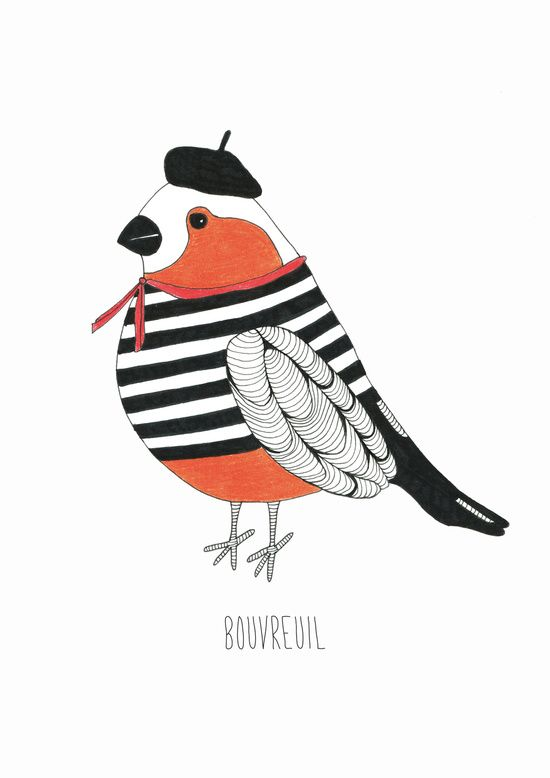 Bouvreuil. Art Print