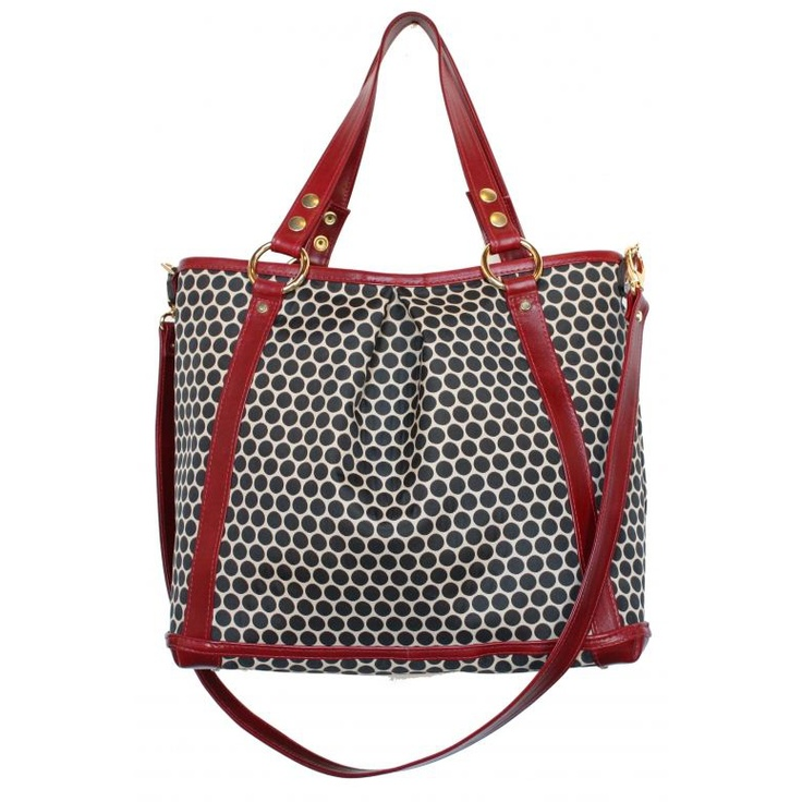 Gorgeous tote diaper bag - love the cherry color