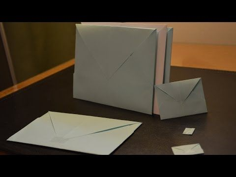 Origami: How to Make a Paper Envelope - YouTube