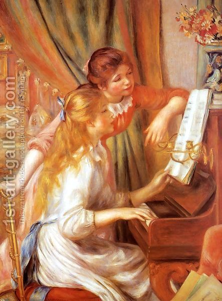 Girls At The Piano2 by Pierre Auguste Renoir