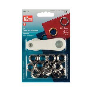 306x306 sp10587 occhielli con rondelle prym ottone argentato 11mm confezione 15 pezzi con attrezzo