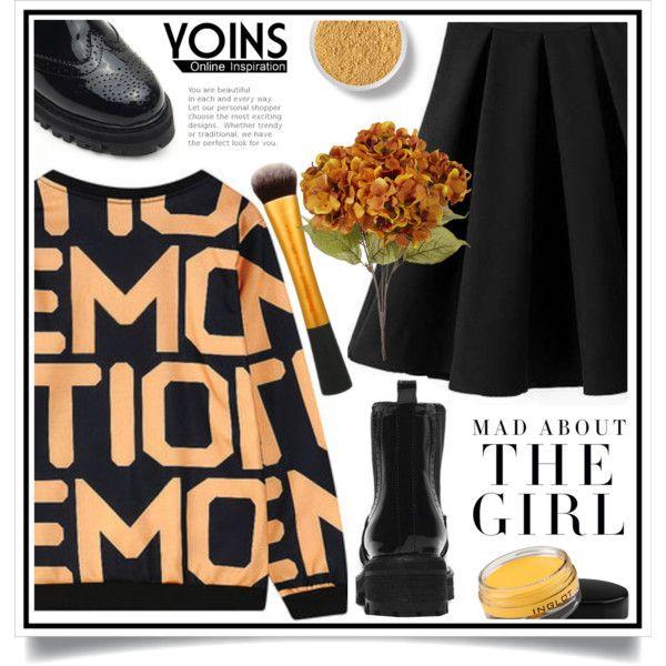 Yoins XV/1 by ewa-naukowicz-wojcik on Polyvore featuring moda, Inglot, Bare…