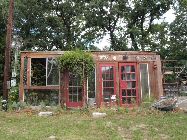 Backyard Greenhouse Ideas green house from old window and door Backyard Reusable Material Chic Homemade Greenhousebackyard