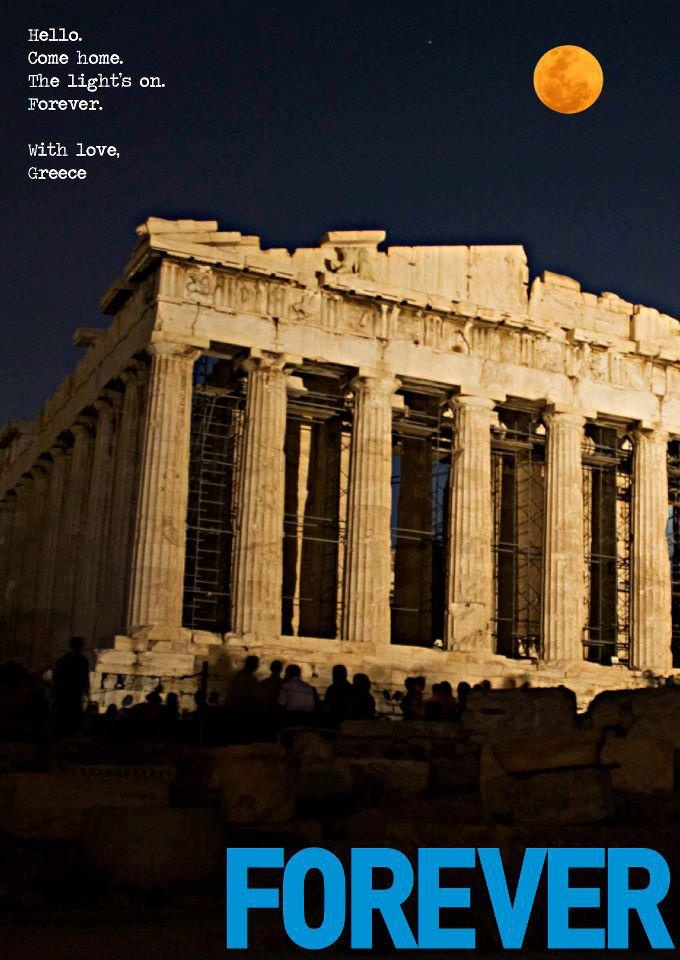 Greece. Acropolis, Forever.  Peter Economides' campaign for Greece.