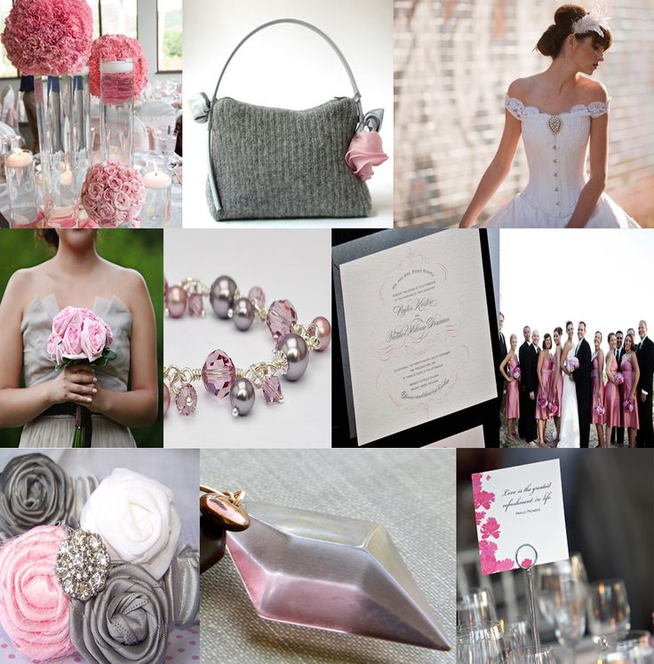 43 Best Pink And Silver Wedding Images On Pinterest Wedding