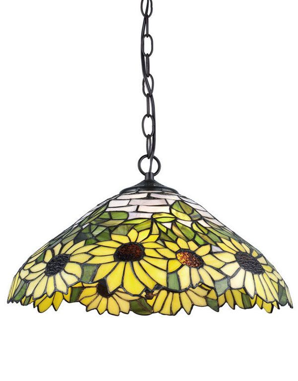 Add Architectural Detail To Any Room In Your Home With This Serena Du0027italia  Tiffany Light Sunflower Bronze Hanging Lamp.