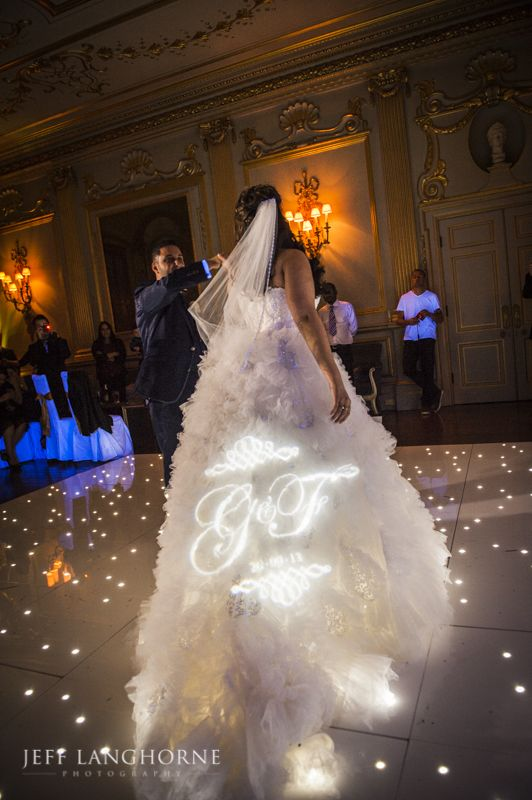 LED Dance floor and star cloth at knowsley Hall