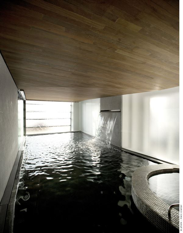 Scandinave Les Bains Vieux Montreal Picture Gallery Pool Patio Spa Pool Backyard