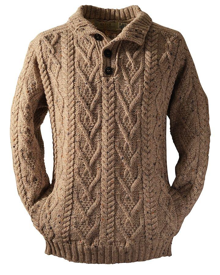 Шерстяной свитер для мужчин, Кабельное вязать свитер для мужчин, ирландские свитера