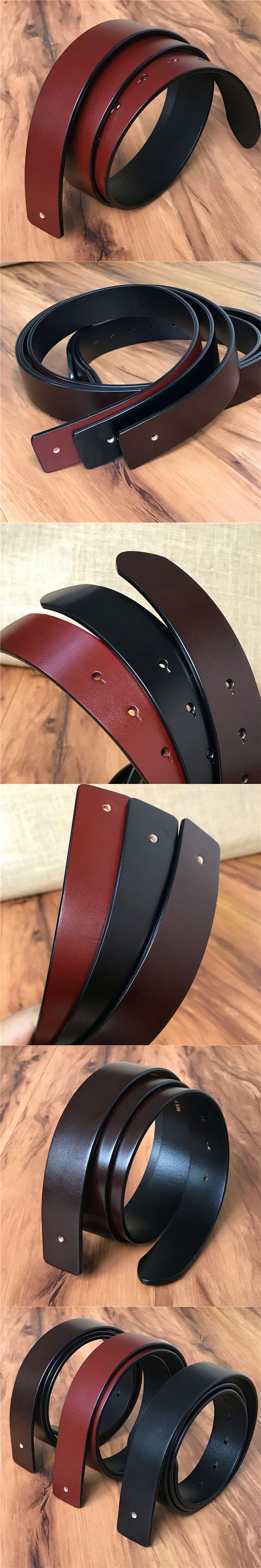TOP Italy Genuine Leather Men Belt Without Belt Buckle 3.3CM Leather Belts For Men Ceinture Homme Cinturon Cinto 105-120CM SP03