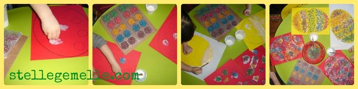 decorare con il riso colorato