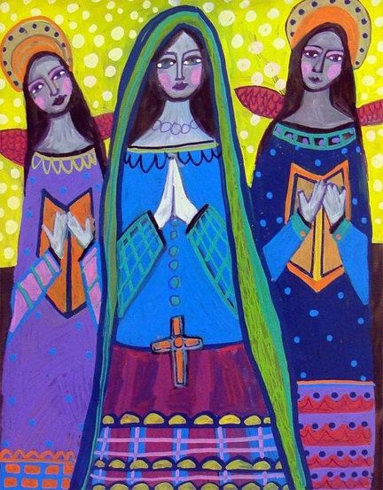 60% Off- Mexican Folk Art - Angel Art Primitive Folk Art Poster Print (HG622)