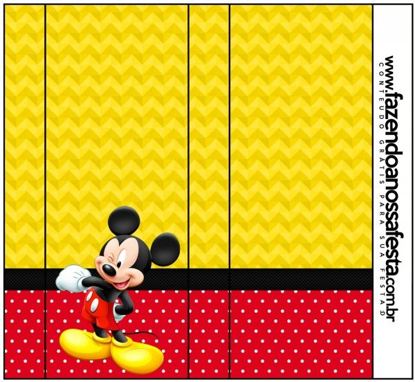 Rótulo Bisnaga Brigadeiro Mickey: