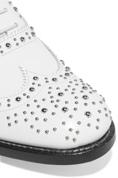 Church's - The Burwood Studded Leather Brogues - White - IT36.5