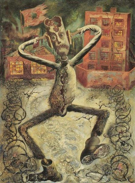 The grey man dances 1949 George Grosz