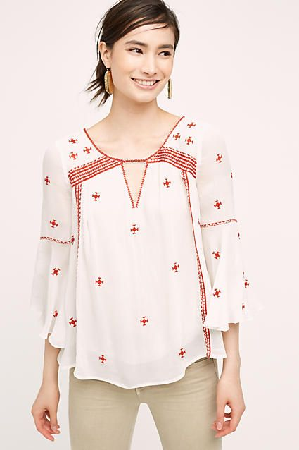 Embroidered Adena Top - anthropologie.com