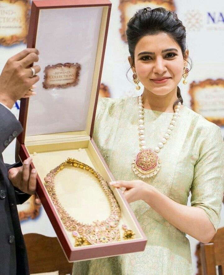 Samantha Ruth Prabhu at the launch of NAC jewellers antique jewelry exhibition.