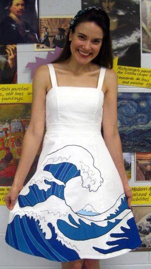 Cassie Stephens: DIY: Hokusai's The Great Wave Dress