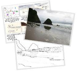 Malen von Reflexionen im Nasssand-Aquarellunterricht mit Susie Short