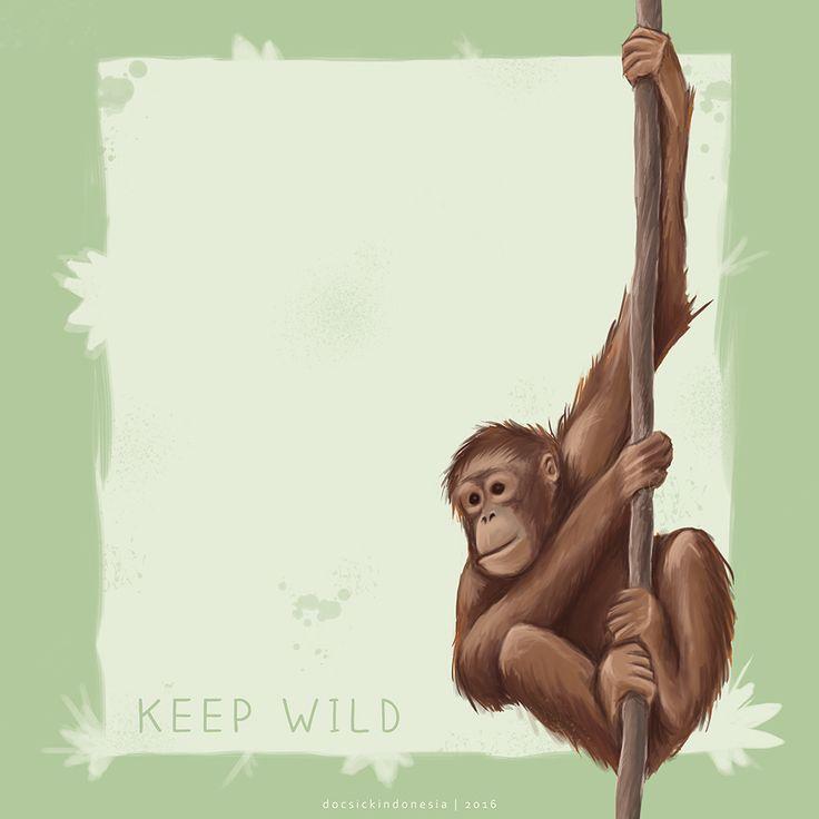 just for killing time #orangutan #artwork #illustration #docsick