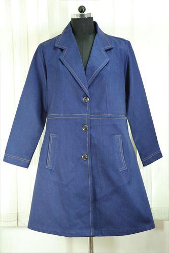 Stylish Denim Overcoat.