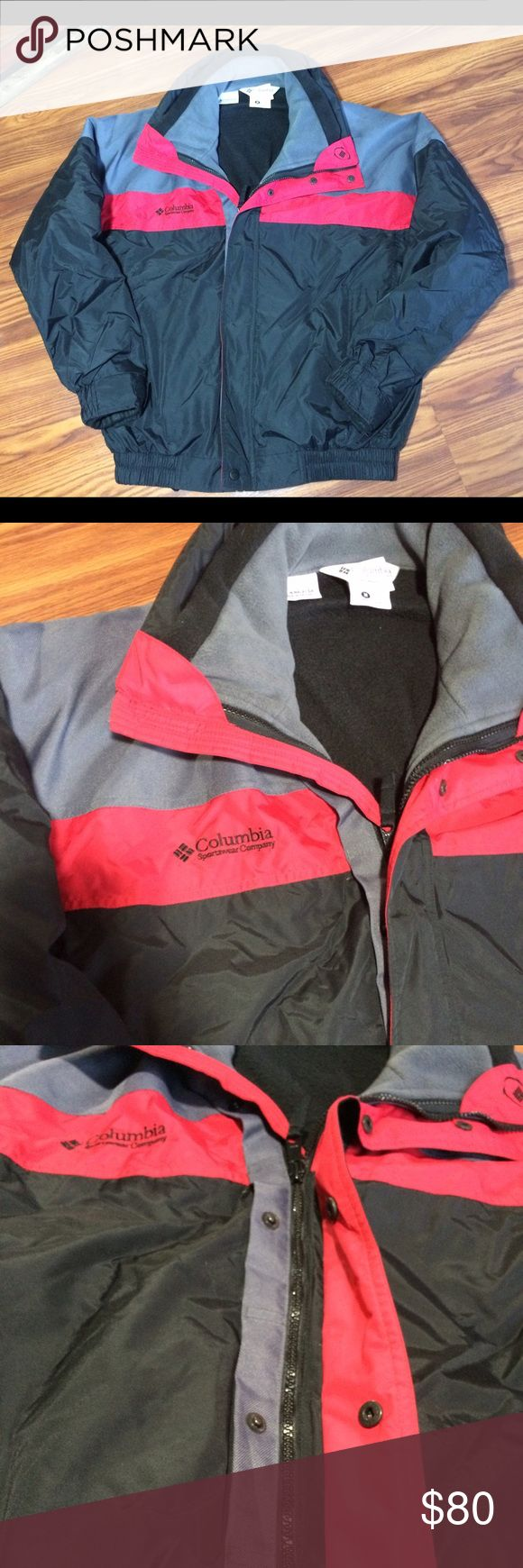 Columbia Mens Large with zip out fleece liner Columbia coat with zip out black fleece liner.  New without tags. Mens Large Columbia Jackets & Coats Ski & Snowboard