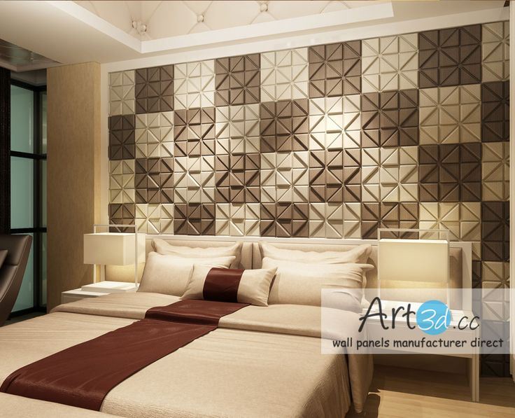 astounding bedroom wall interior design | Leather Tiles In Bedroom Wall Design | Bedroom wall ...