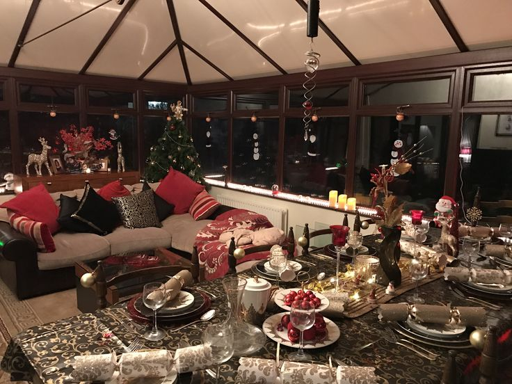 A very happy customer enjoying their conservatory this Christmas. Turning it into a stunning dinning area for the family.