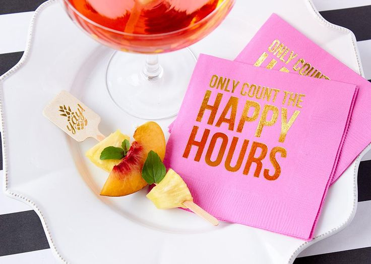 Only count the happy hours beverage napkin   Great for entertaining!