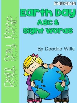 Sight word fun with an Earth Day theme!  Cute clip art make this familiar game just perfect for your Earth Day themed literacy stations or word work.  ABC and beginning site words are included.  There are also editable cards so you can add your own word wall or popcorn words.