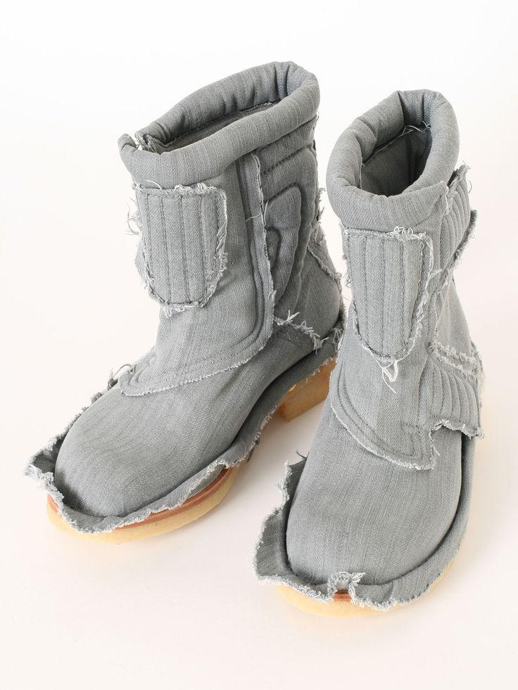 Bernhard Willhelm denim BABY LIKE boots SS2016 @GuyaFirenze