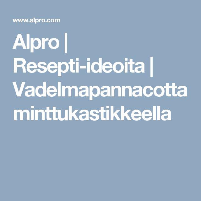Alpro | Resepti-ideoita | Vadelmapannacotta minttukastikkeella