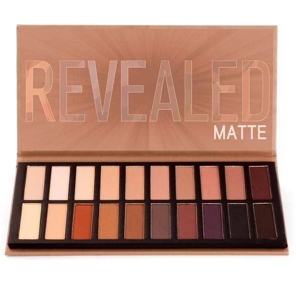 The Revealed Matte palette features twenty all-new stunning matte eye shadows, in a variety of hues. Add depth while maintaining pigmentation with this gorgeous array of all-matte shades. #coastalscents