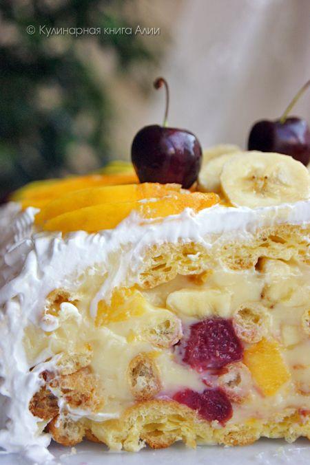 """Торт """"Тропиканка"""": Fruit Cakes, Рецепты Тортов, Cakes Торты"""