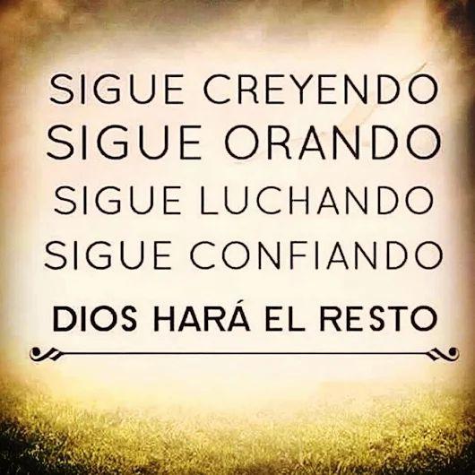 Sigue tu camino con Dios!