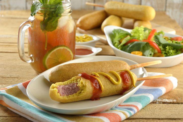 Se me antojó esta rica receta: Banderillas de Salchicha con Salsa Casera
