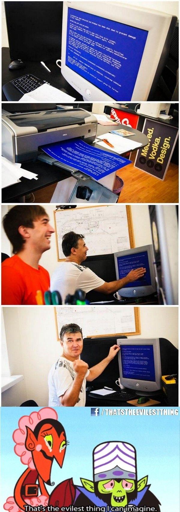 Funny office prank idea