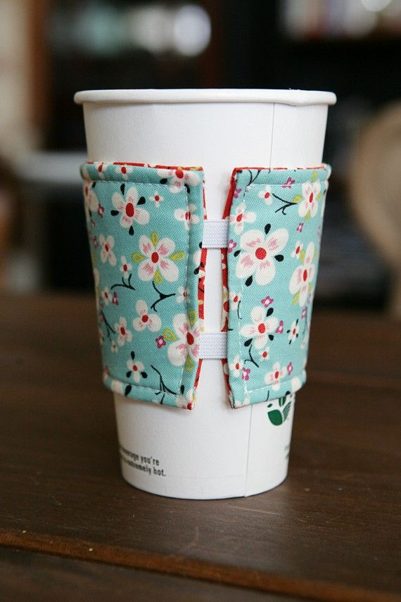 Coffee mug cover sewing pattern bing images for Cup cozy pillow