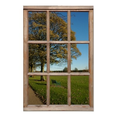 Autumn Park View From A Faux Window Poster Hanging Around The House Pinterest Windows And Home