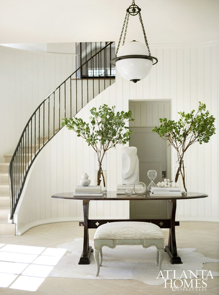 1000 ideas about curved staircase on pinterest grand for Furniture for curved wall in foyer